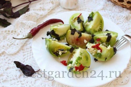 Квашеные зеленые помидоры с уксусом. Квашеные зеленые помидоры