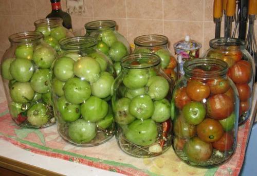 Соленые зеленые помидоры горячим способом. Обалденные зеленые соленые помидоры в банках с горчицей, как бочковые